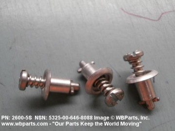 2600-5S, STAINLESS STEEL, 1/4 TURN STUD - SS CAMLOC