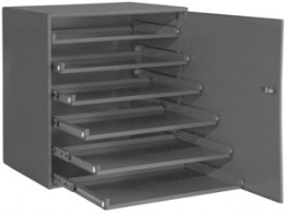 321B-95-DR, 6LR BEARING RACK, W/DOOR, #95 GRAY