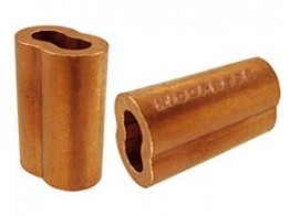 MS51844-22, ZINC COATED COPPER, WIRE ROPE SWAGING SLEEVE