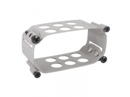 123-1532-C, CLAMP/Rectangle, depth: 1.5, aluminum, anodized finish, panel mount.