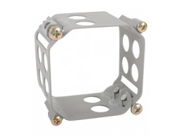 123-2222-H, CLAMP/Square, size: 2.175 depth: 1.5, aluminum, chromic-anodized finish, panel mount.