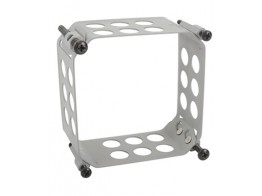 123-3232-G, CLAMP/Size: 3, depth: 3, aluminum, chromic-anodized finish, panel mount.
