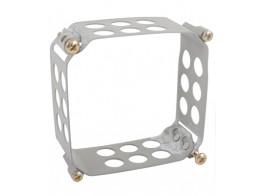 123-3232-H, CLAMP/Square, size: 3.175 x 3.175, depth: 1.5, aluminum, anodized finish.