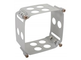 123-3232-W2B, CLAMP/Square, size: 3.175 x 3.175, depth: 2, aluminum, anodized finish, panel mount.