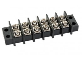 1546671-6, BARRIER TERMINAL BLOCK/6 position, open end mount, for use with 22-14 gauge wire.
