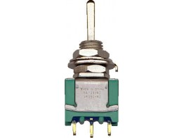 1571920-9, TOGGLE SWITCH/Momentary, single pole double throw, on-off-on, panel mount, gold flash over silver plating
