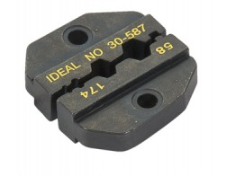 30-587, DIE SET/For RG-58, RG-174, RG8218 for CRIMPMASTER Crimp Tool Frame 30-506. Hex hole sizes: .213 in., .178 in., .068 in. Interchangeable dies.