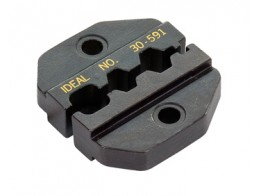 30-591, DIE SET/For RG-58/RG-59, CRIMPMASTER Crimp Tool Frame 30-506. Hex hole sizes: .213 in., .190 in., .068 in. Interchangeable dies.