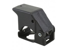 401-112, SWITCH GUARD/3 position, momentary down, black, keyway locator: 6 o'clock position.