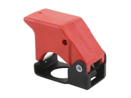 401-121, SWITCH GUARD/3 position, momentary down, red, keyway locator: 12 o'clock position