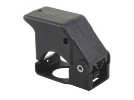 401-122, SWITCH GUARD/3 position, momentary down, black, keyway locator: 12 o'clock position.