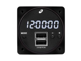 6420093-1, MD93 DIGITAL CLOCK/DUAL USB CHARGING PORT