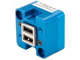 6430102-2, TA102 DUAL USB CHARGING PORT/10-32 VDC Input/5 VDC Output/Panel mount/Bottom power input